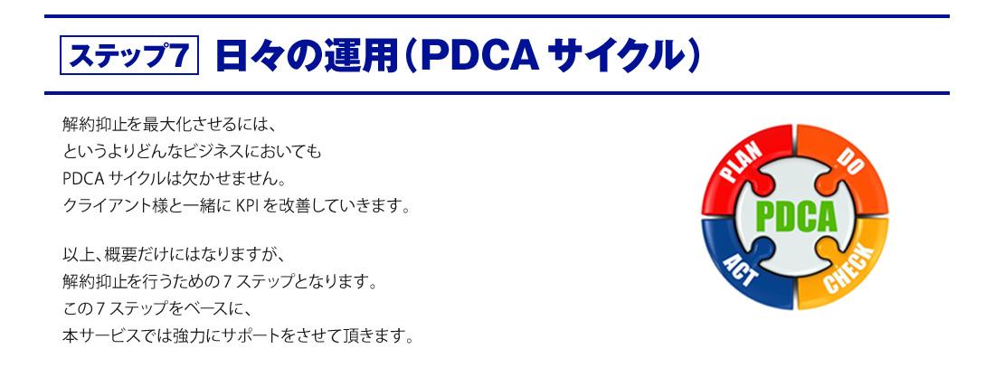 ステップ7 日々の運用(PDCAサイクル)